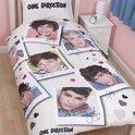 One Direction dekbedovertrek - Wit - 1-persoons (140x200 cm + 1 sloop)