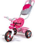 Baby Driver Driewieler met Duwstang - Roze