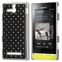 Diamond hard case Hoesje Sony Xperia U zwart
