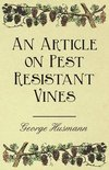 - An Article on Pest Resistant Vines
