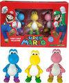 Nintendo 3 Yoshi Mini Figuren (Roze,Geel,Blauw) (Limited Edition)