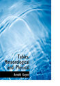 Tables, Meteorological and Physical