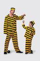 Carnavalskleding Western boef dalton geel - zwart kind Maat 152