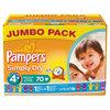 Pampers Simply Dry - Luiers Maat 4+ Jumbo box 70 st.