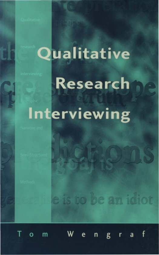 "Cover of ""Qualitative Research Interviewing Biographic Narrative and Semi-Structured Methods"""