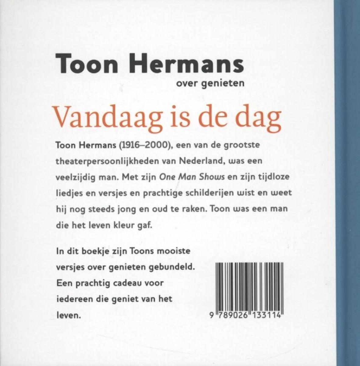 Bolcom Vandaag Is De Dag Toon Hermans 9789026133114