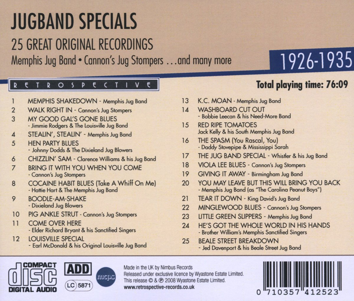 bol.com | Original Artists, Jugband Specials | CD (album) | Muziek