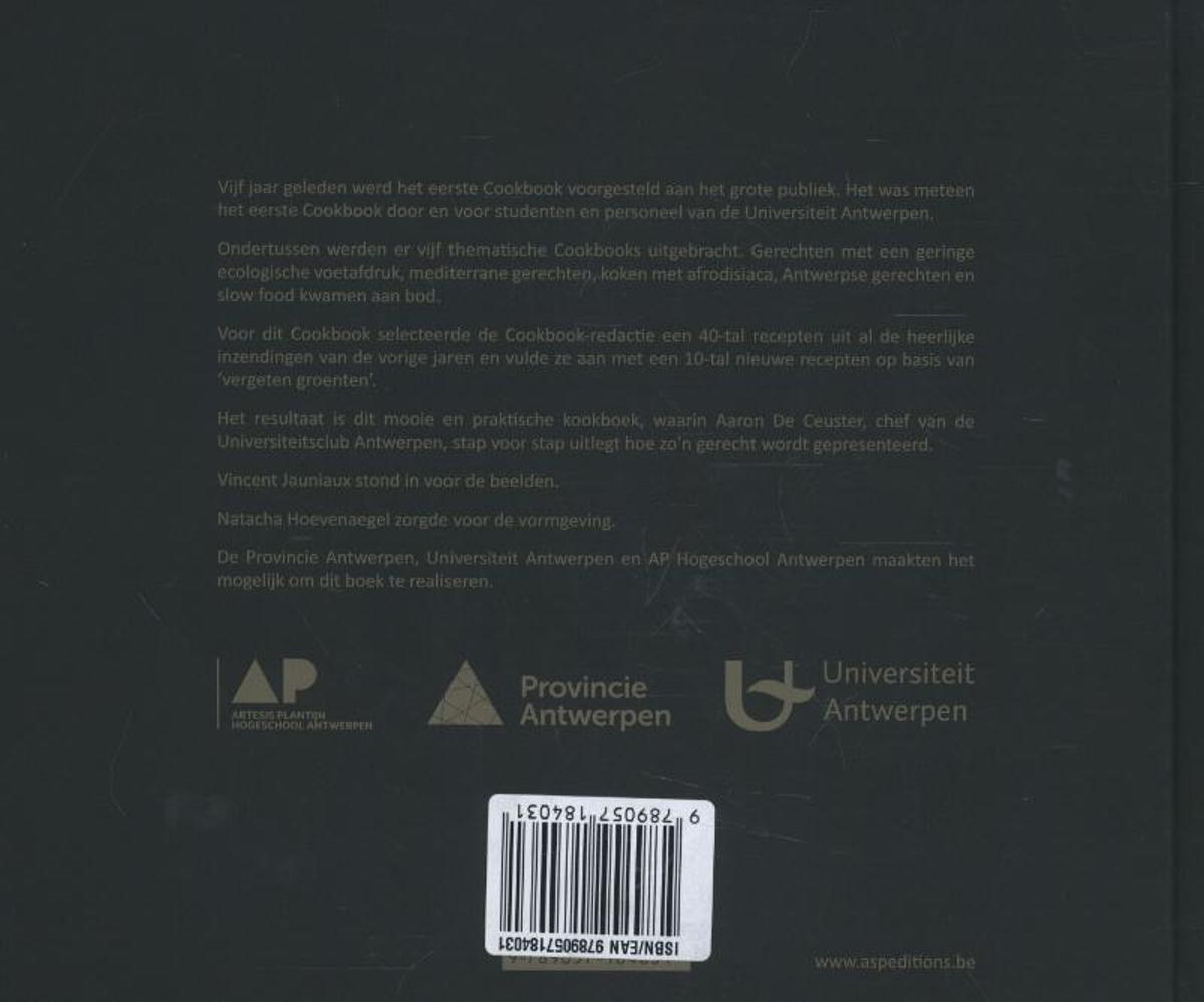 Bol.com cookbook 9789057184031 universtiteit antwerpen boeken