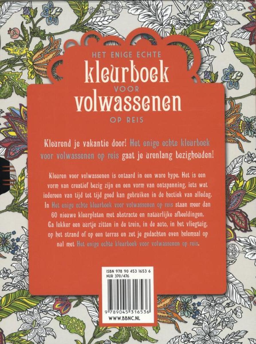 Kleurplaten Voor Volwassenen Op Reis.Bol Com Het Enige Echte Kleurboek Voor Volwassenen Op Reis