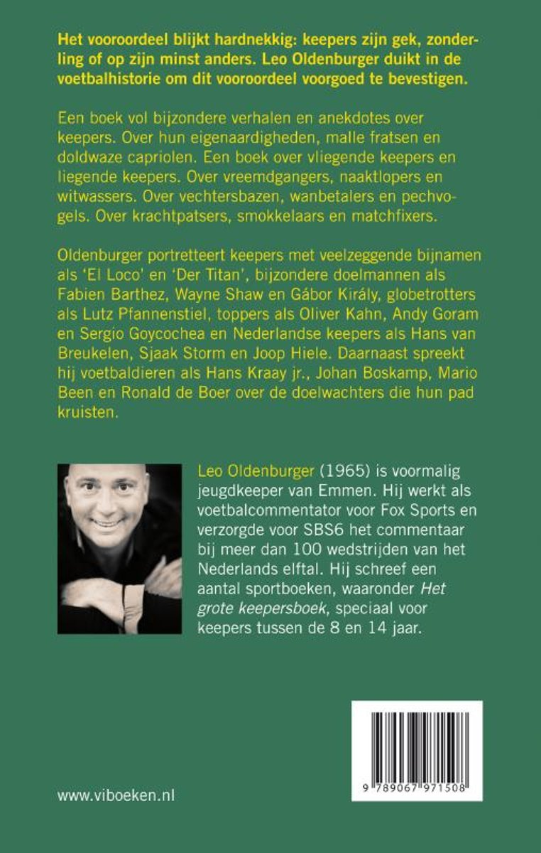 6ad1b91e8fb bol.com | Keepers zijn gek, Leo Oldenburger | 9789067971508 | Boeken