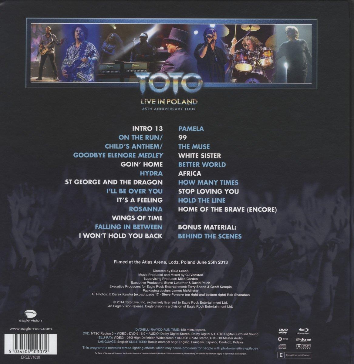 bol.com   Toto - 35th Anniversary Tour: Live In Poland (Blu-ray+Dvd+ ...