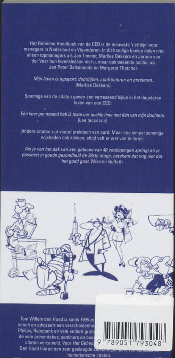 Citaten Voor Managers : Bol.com het geheime handboek van de ceo t.w. den hoed