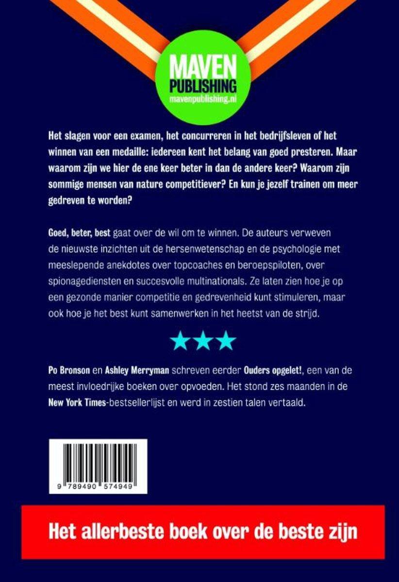 8dd1b01074e467 bol.com   Goed, beter, best, Po Bronson   9789490574949   Boeken