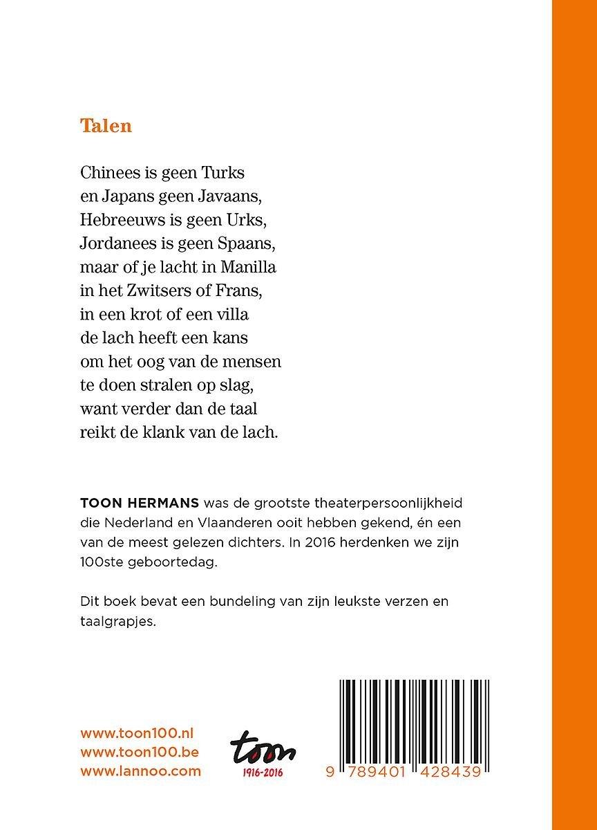New bol.com | De klank van de lach, Hermans, Toon | 9789401428439 | Boeken @DI55