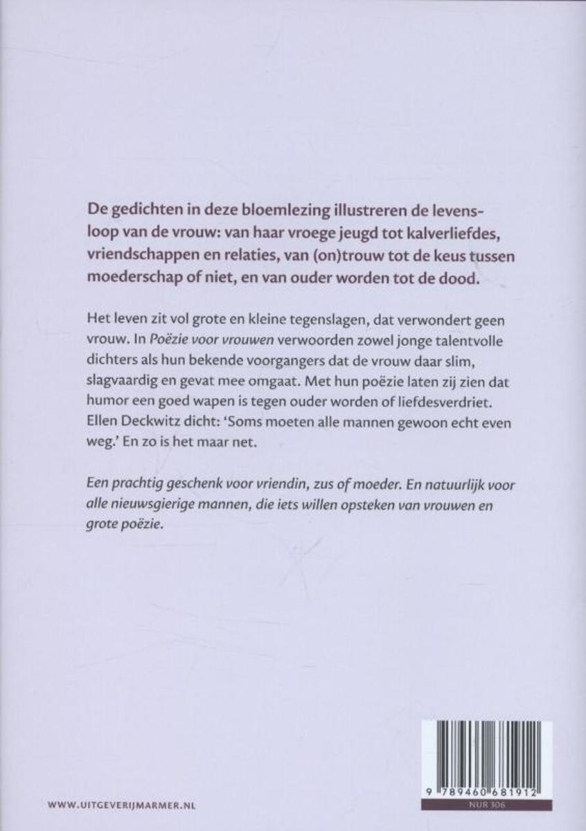 Bolcom Poezie Voor Vrouwen 9789460681912 Boeken