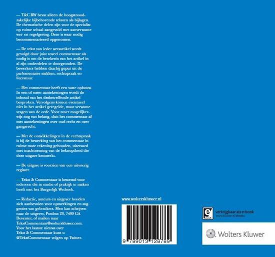 bol | tekst & commentaar - burgerlijk wetboek boek 1 en 2