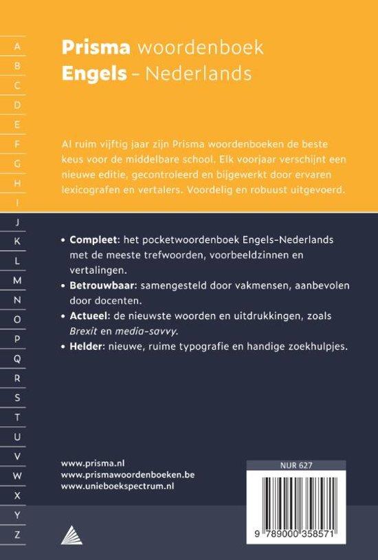 Bolcom Prisma Woordenboek Engels Nederlands Diverse
