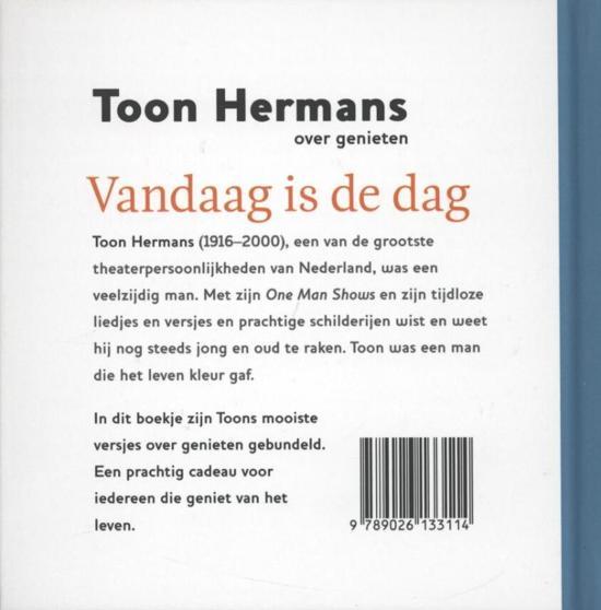 Uitzonderlijk bol.com | Vandaag is de dag, Toon Hermans | 9789026133114 | Boeken @TB45