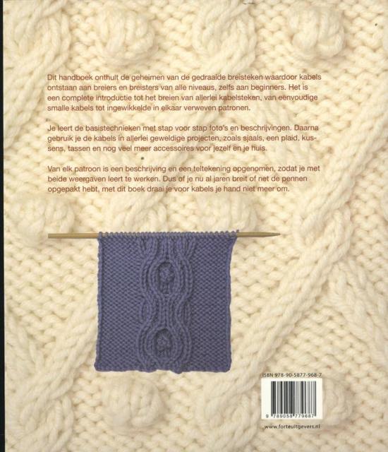Een Plaid Breien.Bol Com Kabels Breien Watterson 9789058779687 Boeken