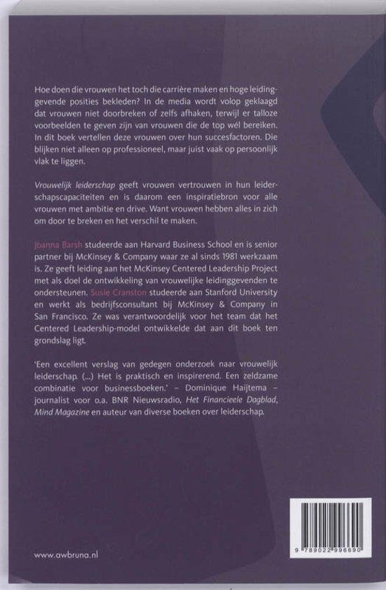 vrouwelijk leiderschap boek