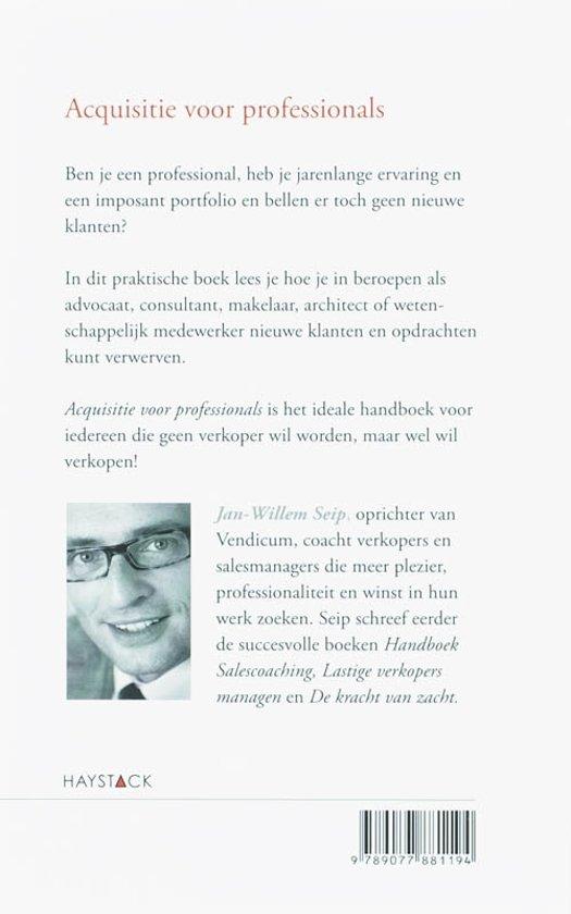 acquisitie sollicitatie bol.| Acquisitie voor professionals, J. W. Seip  acquisitie sollicitatie