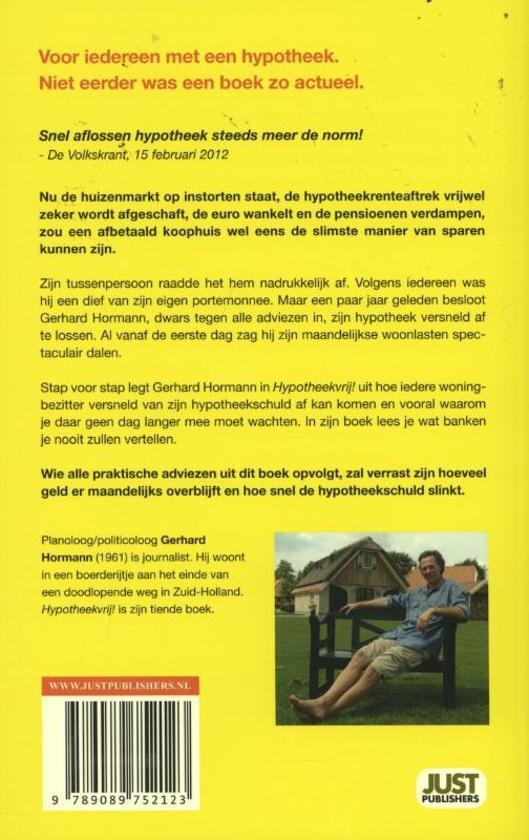 Hypotheekvrij gerhard hormann 9789089752123 for Huis hypotheekvrij maken