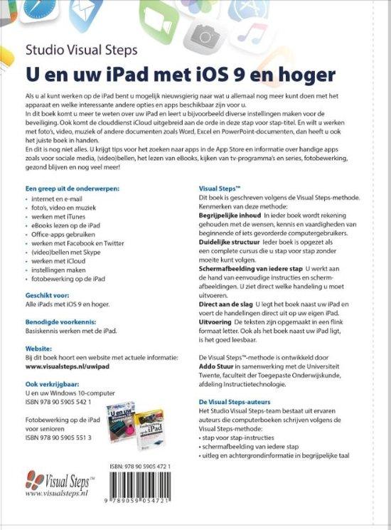 bol com | U en uw iPad met iOS 9 en hoger | 9789059054721 | Boeken