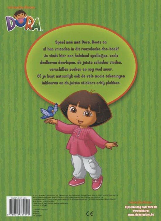 Dora Kleurplaten Op De Computer Kleuren.Bol Com Dora Reuzeleuk Doe Boek Met Herbruikbare Stickers
