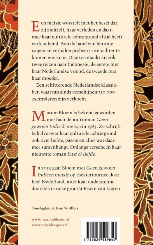 Citaten Schrijven Nederlands : Bol geen gewoon indisch meisje marion bloem