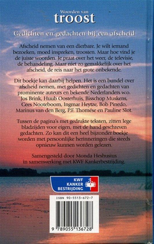Top bol.com | Woorden van troost, Monda Heshusius | 9789055136728 | Boeken @ZP24