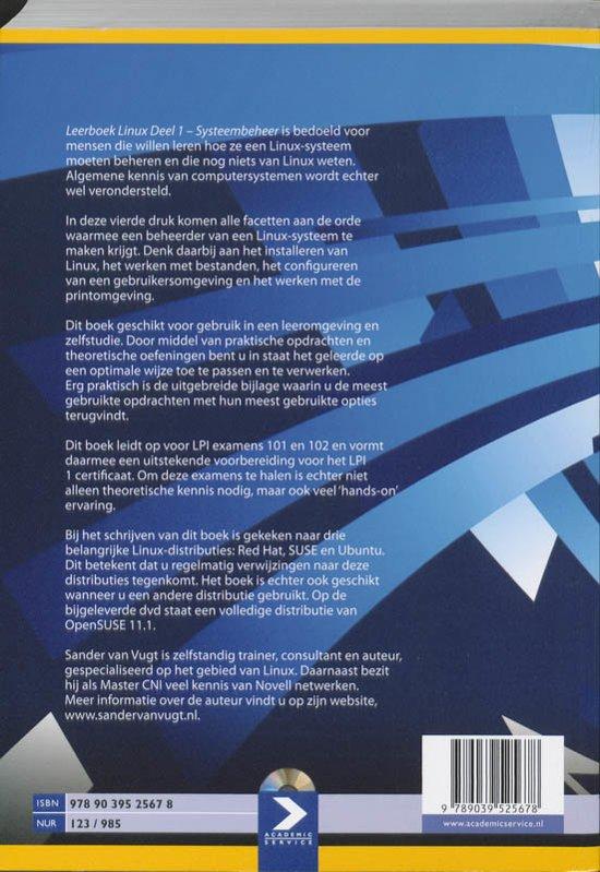 Bolcom Leerboek Linux 1 Systeembeheer 9789039525678 Sander