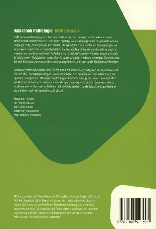 basisboek pathologie mbo niveau 4 tweedehands