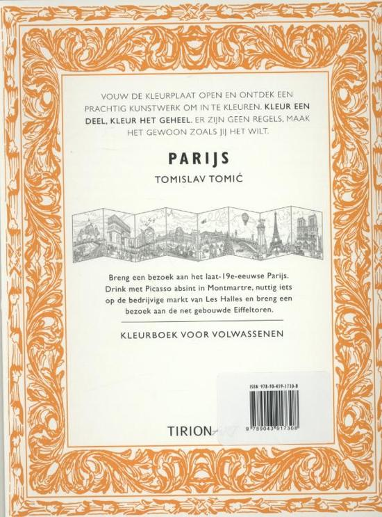Kleurplaten Voor Volwassenen Parijs.Bol Com Kleurboek Voor Volwassenen Parijs Tomislav Tomic