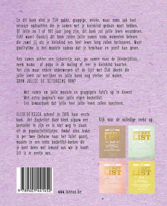 21575a03de3 bol.com | Bucketlist - Het Bucketlist Boek voor grootouders, Elise ...
