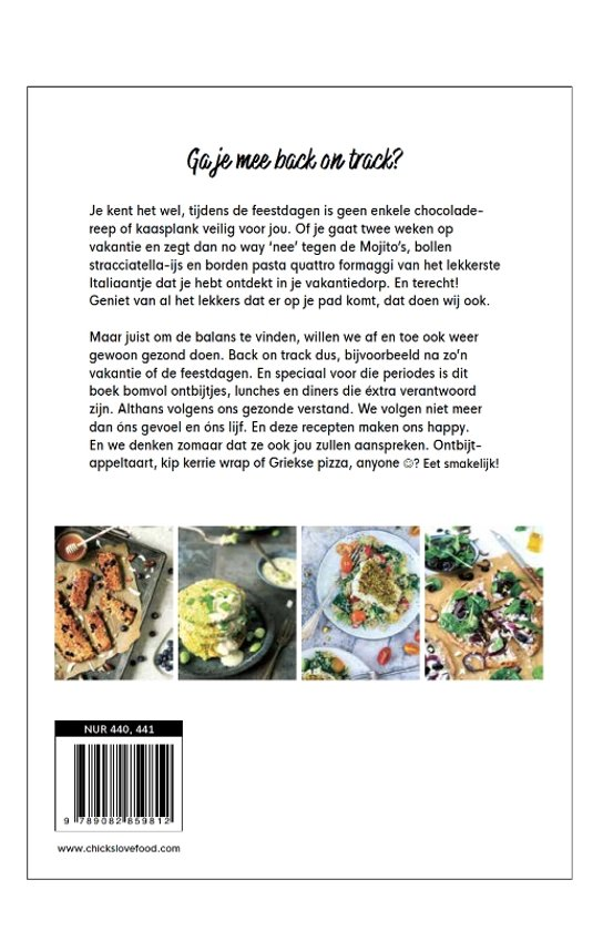 Chickslovefood - Het back on track-kookboek