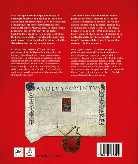 the post book la poste 500 years of history in europe 500 ans dhistoire en europe