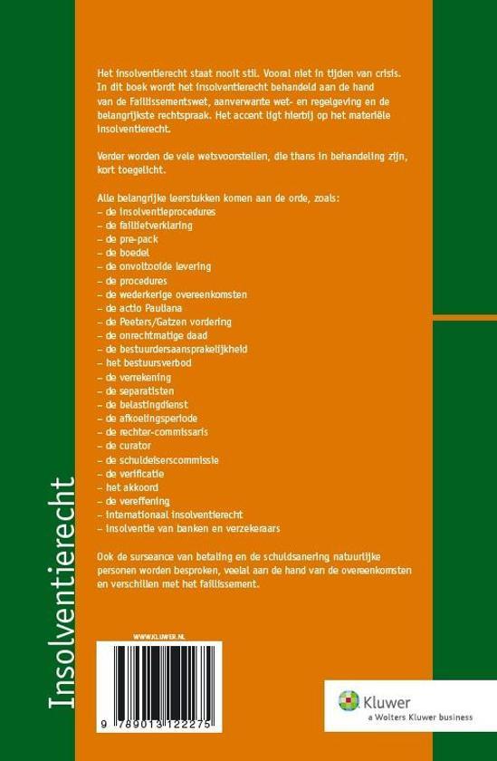 Favoriete bol.com | Insolventierecht | 9789013122275 | N.J. Polak | Boeken TZ-33