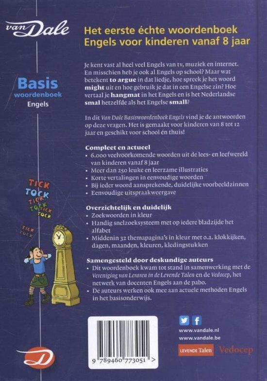 Bolcom Van Dale Basiswoordenboek Engels 9789460773051 Yvonne