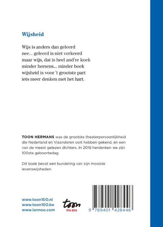 Populair bol.com | Wijs is anders dan geleerd, Toon Hermans | 9789401428446 &GS47