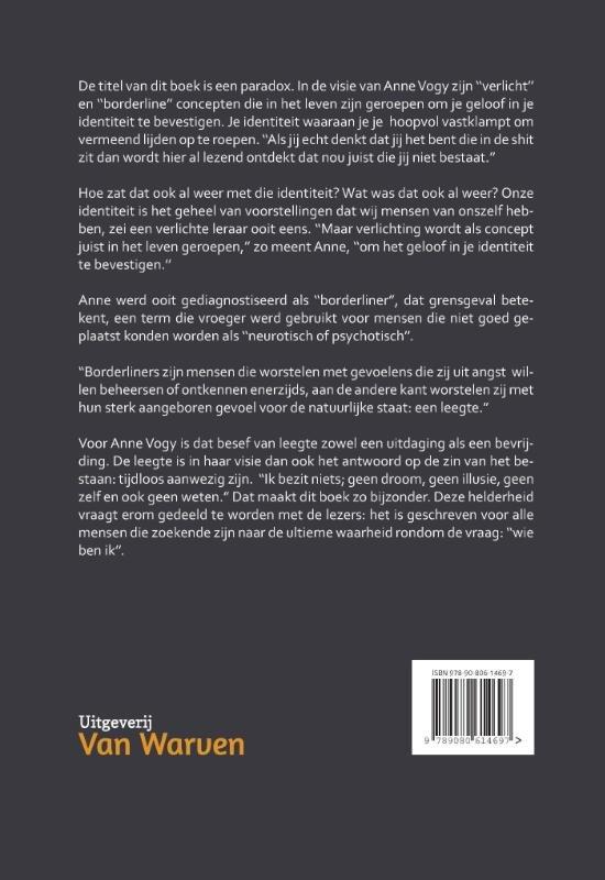 bol.com | De verlichte borderliner, Anne Vogy | 9789080614697 | Boeken