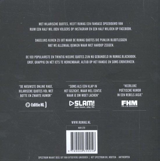 Bol Com Rumag Blackbook Rumag 9789000350056 Boeken