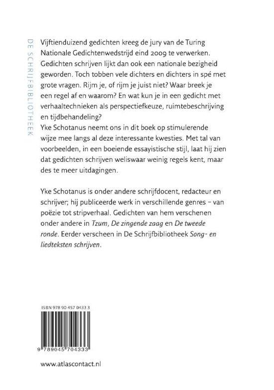 Bolcom Dichten Doe Je Zo Yke Schotanus 9789045704333