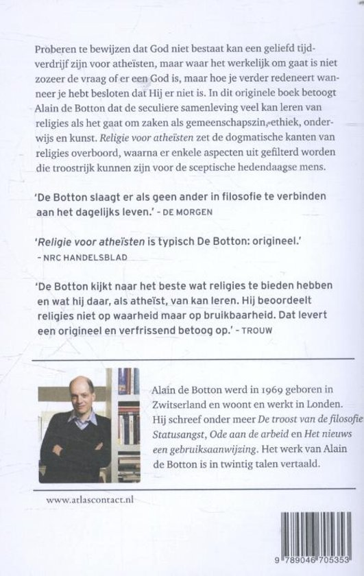 Bolcom Religie Voor Atheïsten Alain De Botton 9789046705353