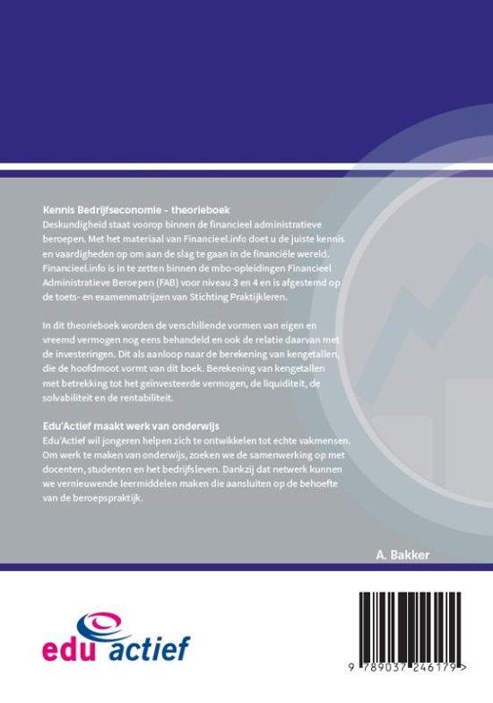 Financieel.info - Kennis Bedrijfseconomie 2018 Theorieboek