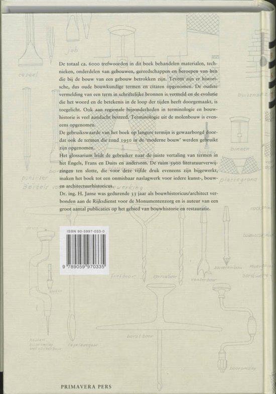 Bouwkundige termen boek