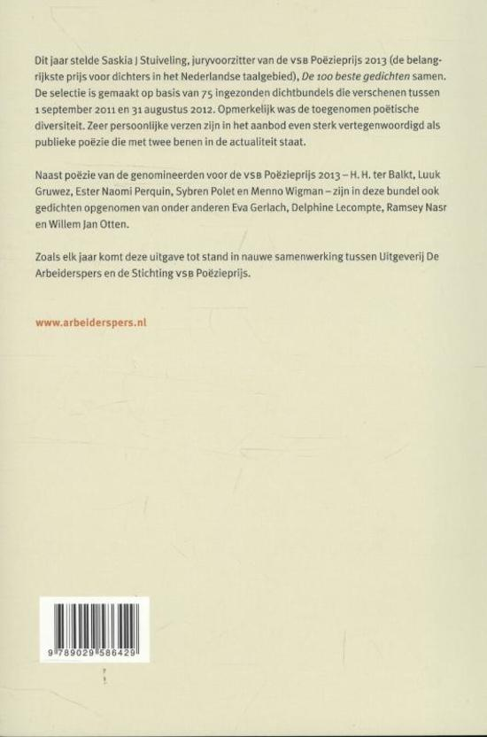 Bolcom De 100 Beste Gedichten Van 9789029586429 Boeken