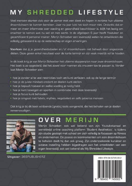 34354e21e97 bol.com   My Shredded Lifestyle, Merijn Schoeber   9789492745002 ...