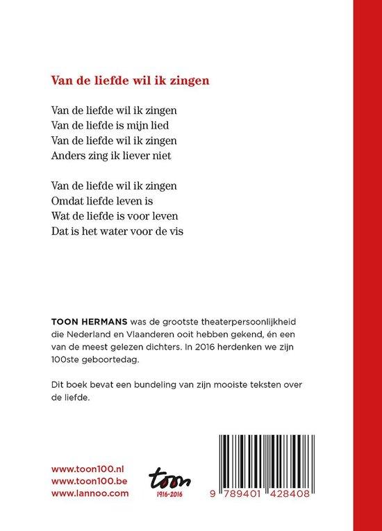 Bolcom Van De Liefde Wil Ik Zingen Toon Hermans