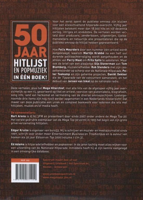 50 jaar hitparade bol.| Mega Top 50 presenteert 50 jaar hitparade, Bart Arens  50 jaar hitparade
