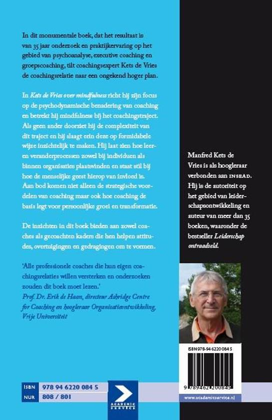 Kets de vries over mindfulness 9789462200845 for Psychodynamische benadering